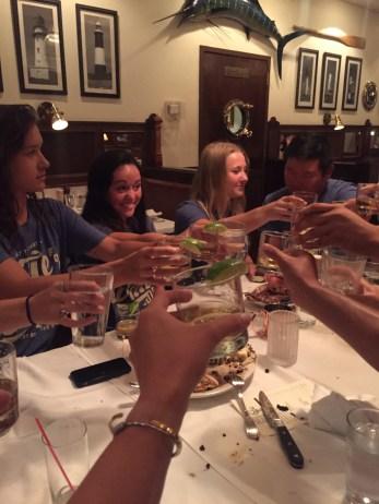 toast at dinner