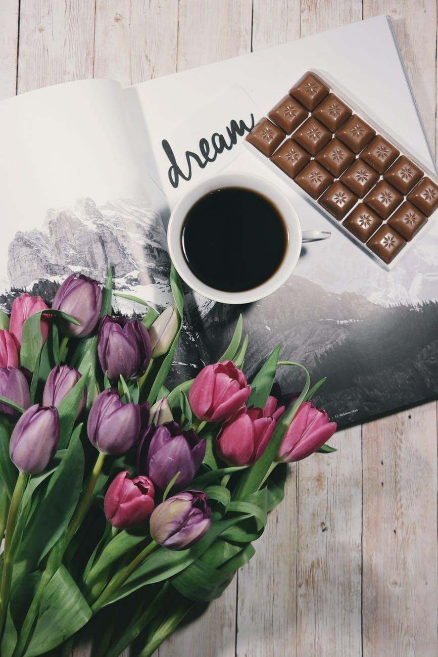 background black coffee bouquet chocolate