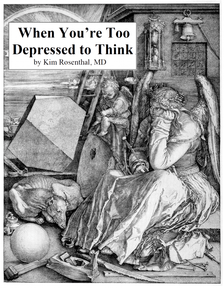 Too depressed to think
