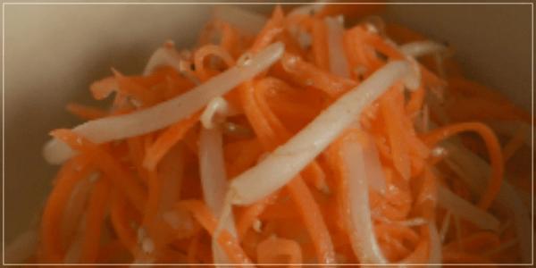 きのう何食べた?12話(最終回)レシピ!にんじんともやしのナムル