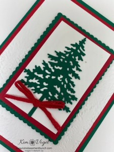 Video of the Week – Using the Pine Woods Dies by Stampin' Up! to create a simple holiday card