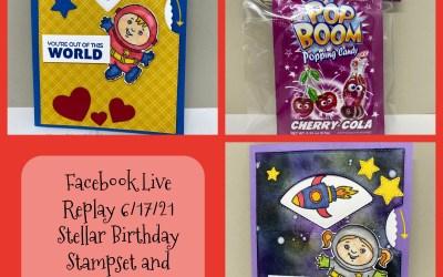 Recap of my Facebook Live from Thursday, June 17 – Spinner Cards!
