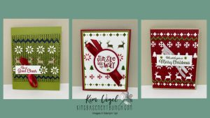Holiday Cards using the Knit Together Bundle by Stampin' Up!