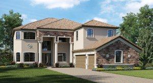 Lakewood Ranch/Bridgewater/The Chapel Hill 3,800 sq. ft. 5 Bedrooms 4.5 Bathrooms 1 Half bathroom 3 Car Garage 2 Stories
