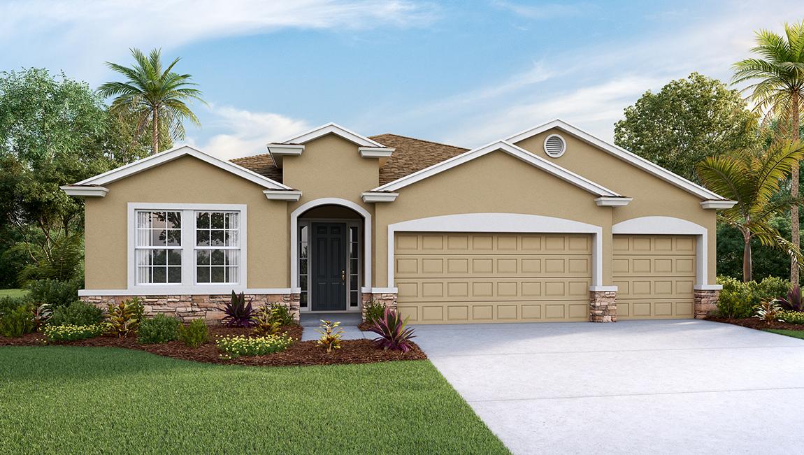 DR Horton Homes | The Destin  2,372 square feet 4 bed, 3 bath, 3 car, 1 story| Brooker Ridge Brandon Florida Real Estate | Brandon Realtor
