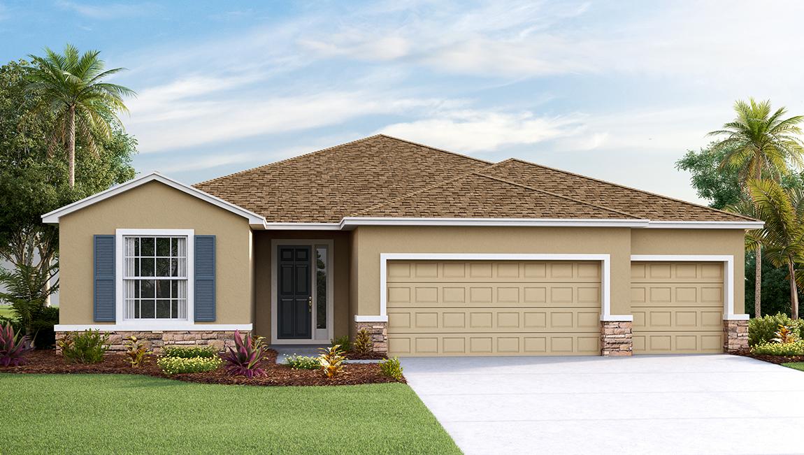 DR Horton Homes | The Hawthorne 2,537 square feet 4 bed, 3 bath, 3 car, 1 story  | Brooker Ridge Brandon Florida Real Estate | Brandon Realtor