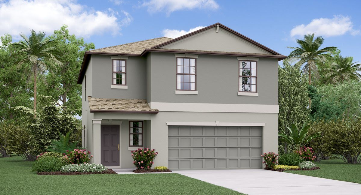 The Santa Fe  Model Tour Lennar Home Trevesta Plametto Florida