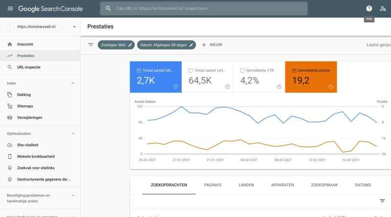 Stap 1 seo optimalisatie met Google Search Console