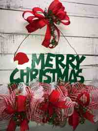 Christmas Door Hanger Merry Christmas Christmas Home Decor Christmas Wreath Front Door Decor Red And Green Christmas Home Decor Handmade Wreaths Wreaths For Sale Kim S Kreations Etc