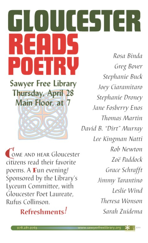 Gloucester Reads Poetry Sawyer Free Library