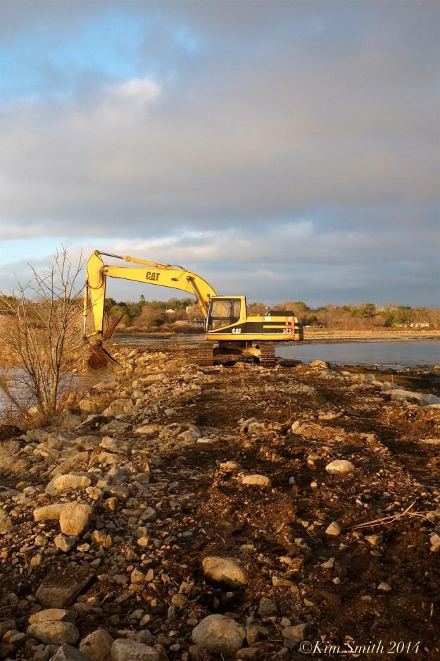 Niles Pond Brace Cove casueway restoration -2 ©Kim Smith 2014.