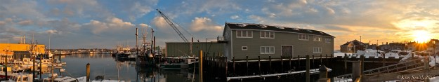 Gloucester Harbor and Fort Panorama ©Kim Smith 2015