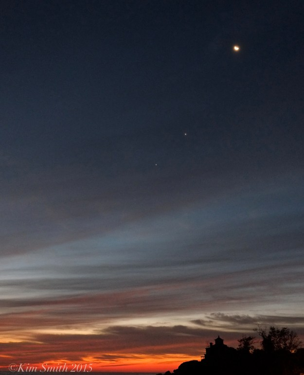 Moon, Venus, Jupiter October 7, 2015 Good Harbor Beach Gloucester ©Kim Smith 2015 .JPG