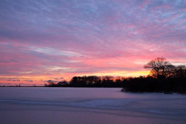 Niles Pond winter sunrise -2www.kimsmithdesigns 2016.