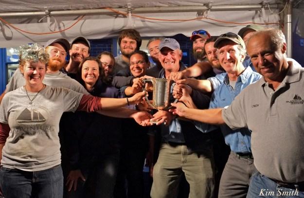 Captain Stefan Edick and crew Esperanto Cup Schooner Festival race 2016 copyright Kim Smith