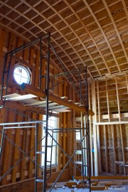 Briar Barn Inn construction detail ceiling -2 April 2018 copyright Kim Smith