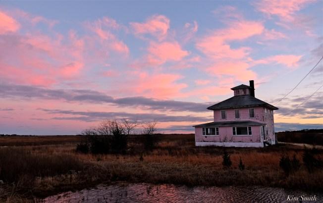 Pink House Plum Island Great Marsh Newburyport Massachusetts copyright Kim Smith