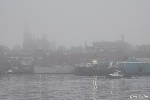 Gloucester Harbor Fog Fv Dunlin Gloucester Massachusetts copyright Kim Smith