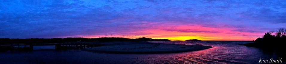 Good Harbor Beach sunrise panorama 4-26-19 copyright Kim Smith
