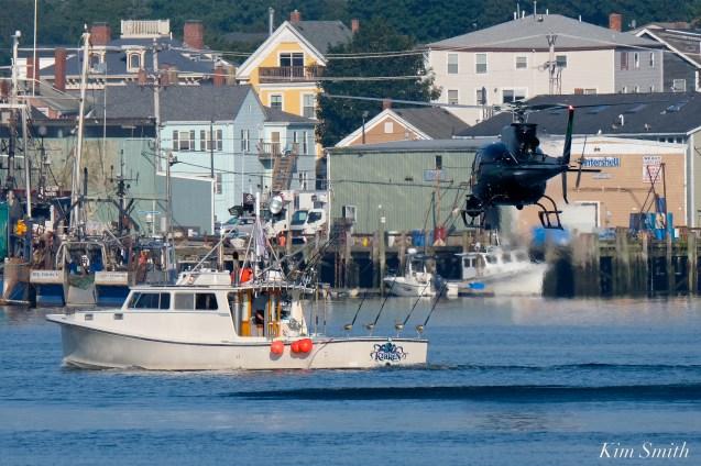 KRaken Fishing Boat Helicopter Filming Gloucester Harbor copyright Kim Smith - 02