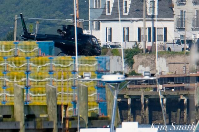 KRaken Fishing Boat Helicopter Filming Gloucester Harbor copyright Kim Smith - 06