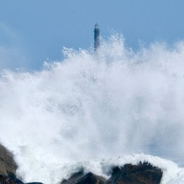 North Light Thacher Island waves Rockport Atlantic Coast Storm copyright Kim Smith - 10 of 37