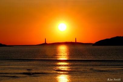 Thacher Island Twin Lights Lighthouses Sunrise copyright Kim Smith - 3 of 5