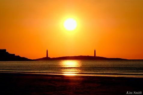 Thacher Island Twin Lights Lighthouses Sunrise copyright Kim Smith - 5 of 5
