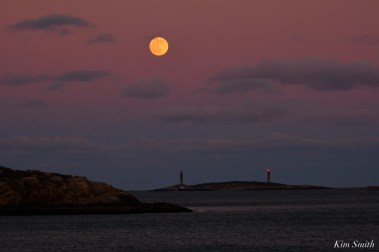 December Full Wolf Moon Thacher island Salt Island Gloucester Essex County copyright Kim Smith - 18 of 23