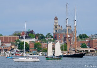 Schooner Parade of Sail Columbia Lewis H. Story Gloucester 2021 copyright kim Smith - 25 of 52