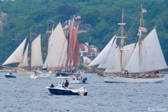 Schooner Parade of Sail Roseway American Eagle Fritha Gloucester 2021 copyright kim Smith - 32 of 52