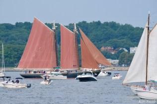 Schooner Parade of Sail RosewayGloucester 2021 copyright kim Smith - 1 of 2