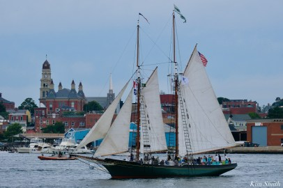 Schooner Parade of Sail Thomas E. Lannon Gloucester 2021 copyright kim Smith - 5 of 52