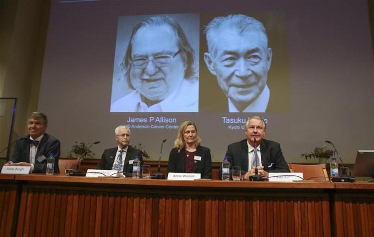 노벨생리의학상 면역 항암치료약 개발! 일본인 노벨 생리의학상 수상