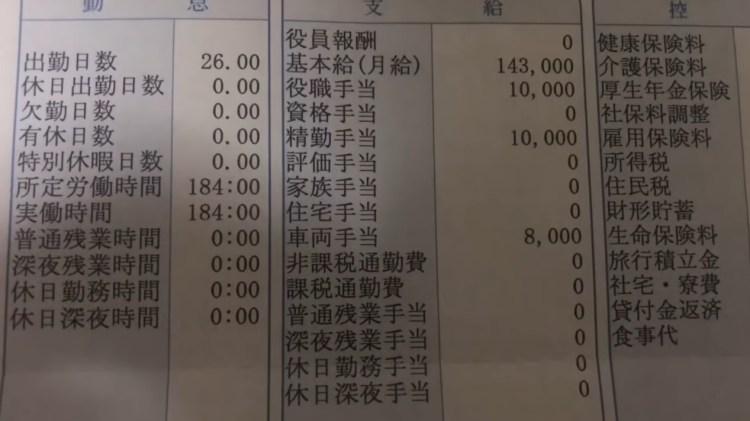 일본편의점 알바비 1024x575 일본편의점 점장의 급여명세서 공개! 블랙기업?