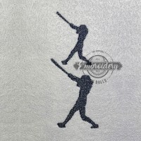 Batter High Swing Embroidery Design