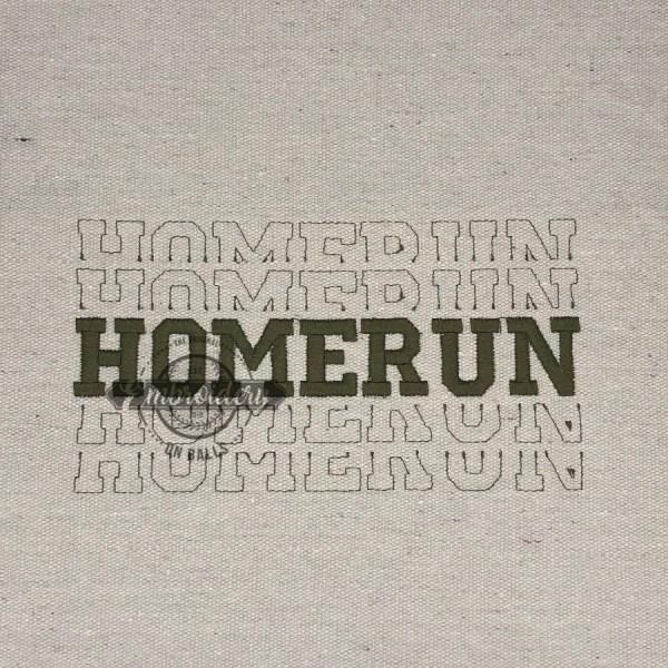 Breakout Homerun - Embroidery Design