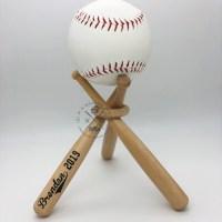 Wooden Baseball Softball Ball Display Stands - INDIVIDUAL