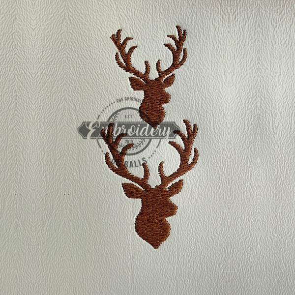 Stags Head Baseball Softball Embroidery Design