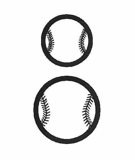 Stitched Ball Outline Embroidery Design