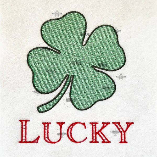 Lucky Shamrock Machine Embroidery Design