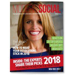Modern Social magazine with Rebekah Radice