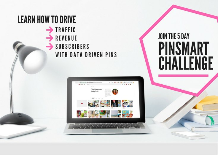 PinSmart Academy 5 Day Challenge hosted Kim Vij.  Discover how to use analytics from your Pinterest Account and Google Analytics to create a data drive game plan for pinning.