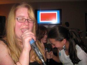 me singing karaoke