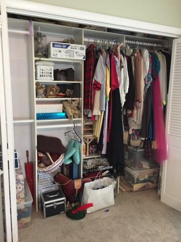 Guest room closet before
