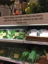 Produce section at Fortnum & Mason