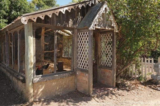 A very glam chook house.