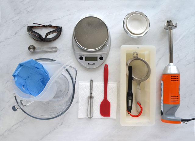 Sabun yapımı için gerekli malzemeler