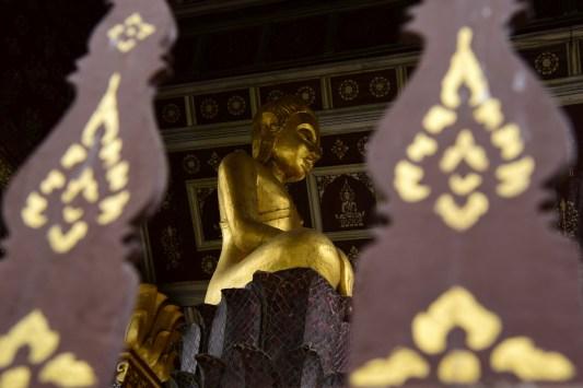Sitting Buddhas at Wat Xieng Thong