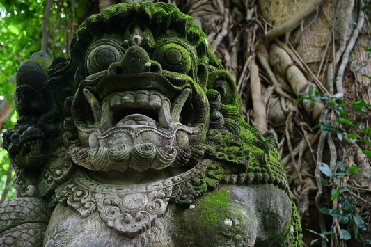 Statue at Monkey Forest
